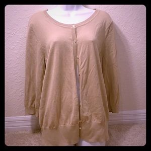 Lane Bryant Tan Cardigan 18/20